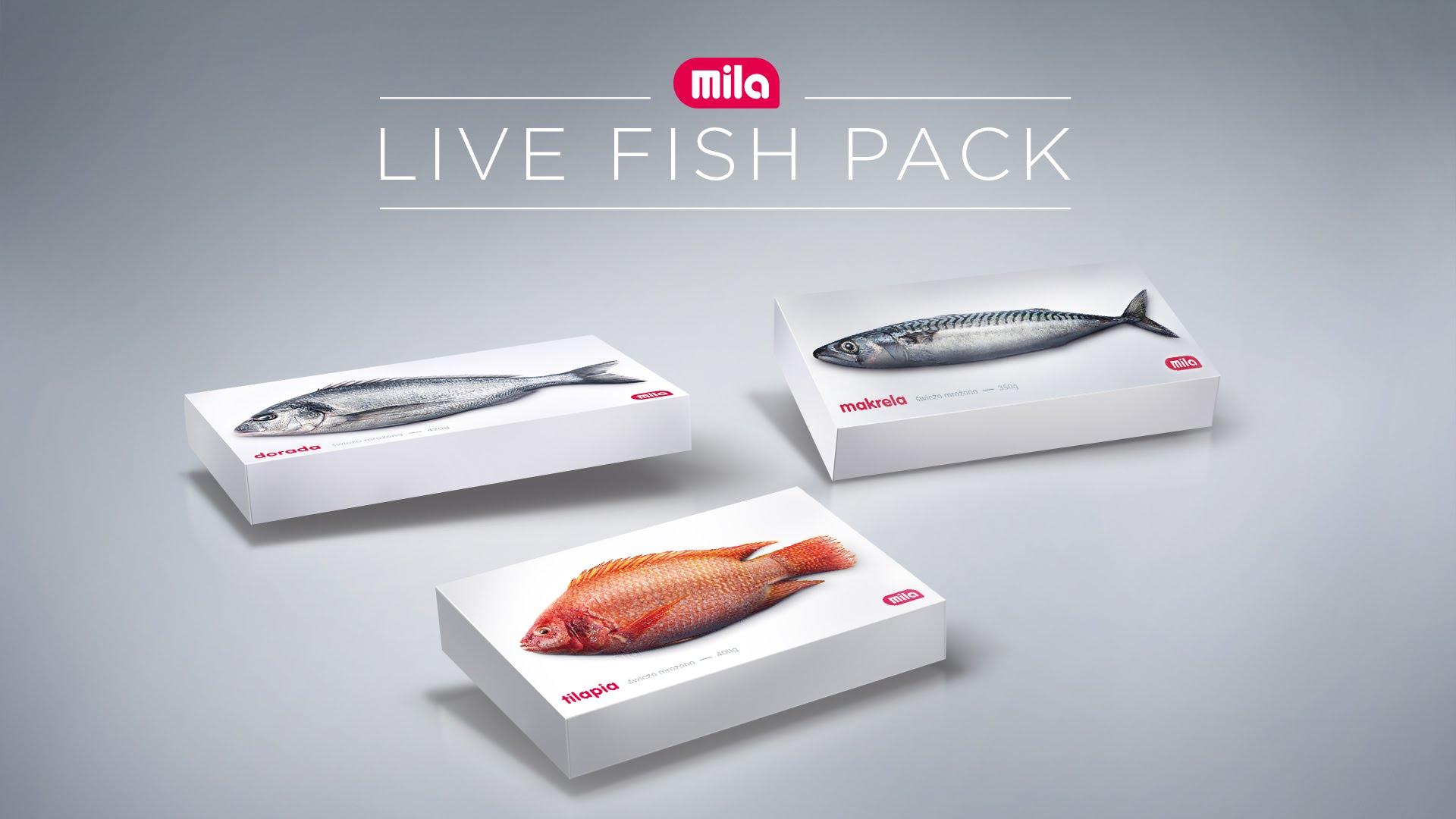 Bewegende visverpakking